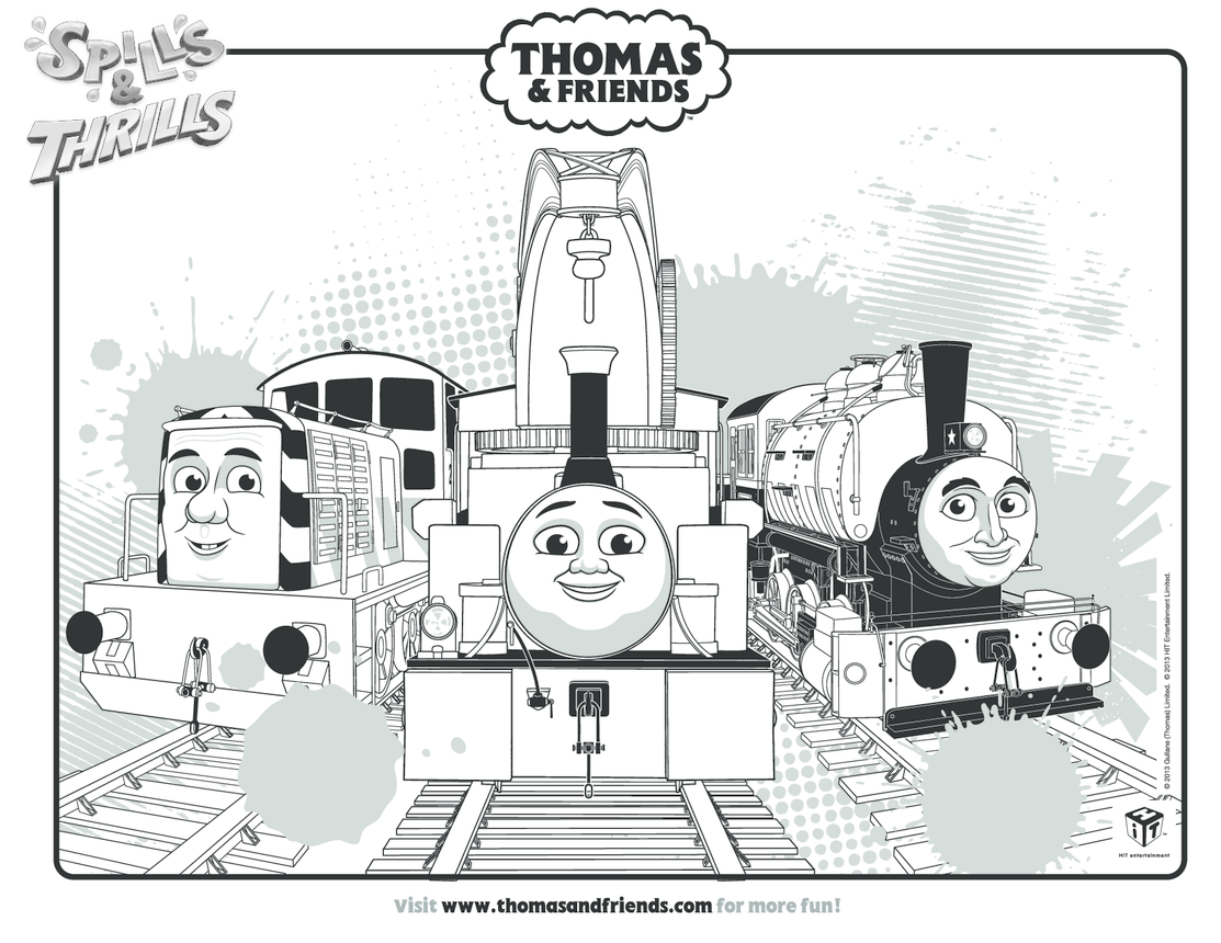 Harvey, Porter & Salty Colouring in Picture (Thomas & Friends)