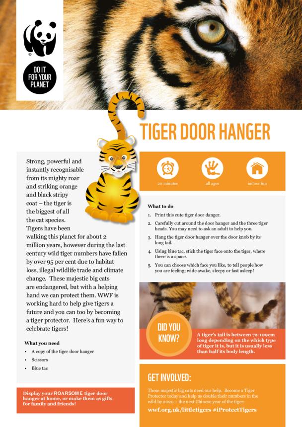 WWF Tiger Door Hanger