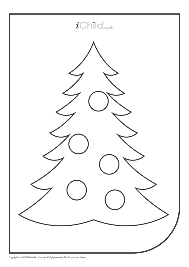 Christmas Tree Colouring in Picture
