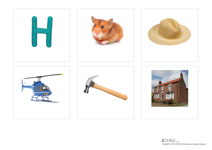 Thumbnail image for the Letter of the Alphabet: H - Photo Flashcard activity.