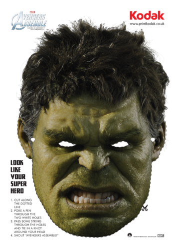 Thumbnail image for the The Hulk Face Mask activity.