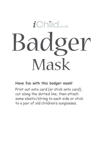 Thumbnail image for the Badger Animal Mask activity.