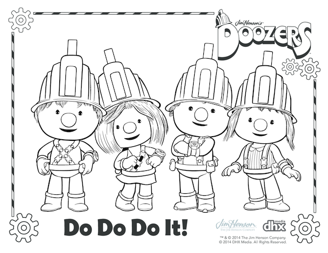 Thumbnail image for the Doozers Colouring in Picture activity.