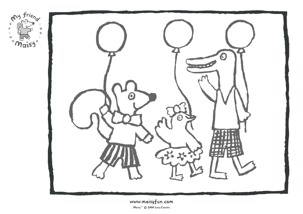 Maisy Party Kit: Colouring in Picture, Maisy's Friends
