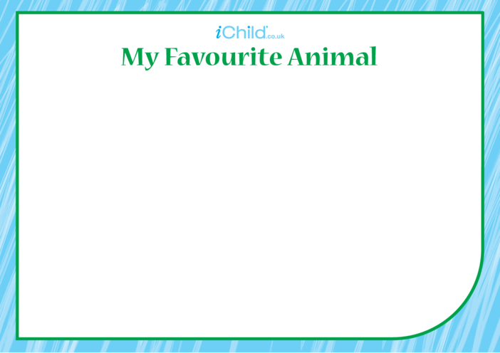 Thumbnail image for the My Favourite Animal Blank Drawing Template activity.