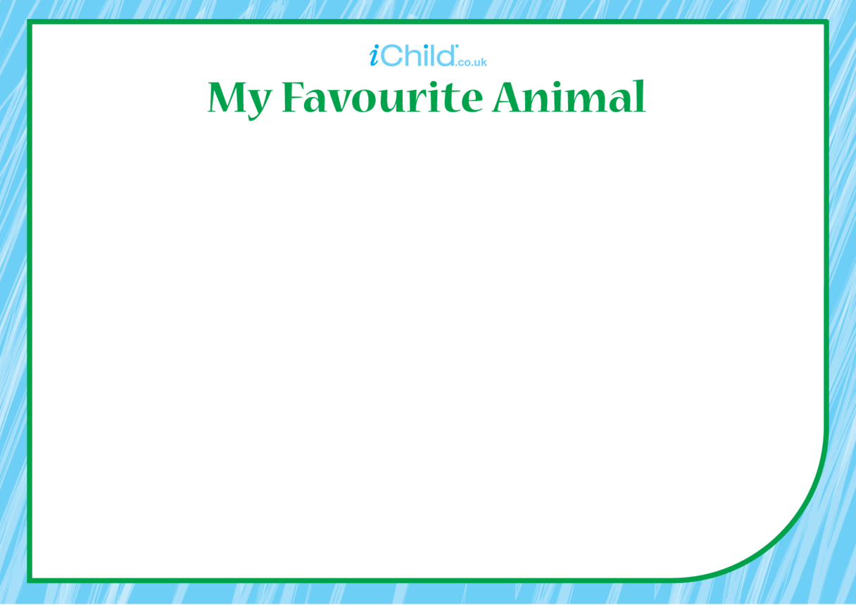 My Favourite Animal Blank Drawing Template