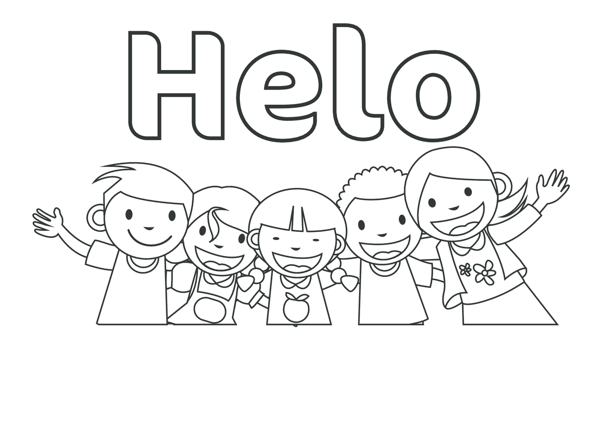 Hello in Welsh (black & white) - Signs & Posters