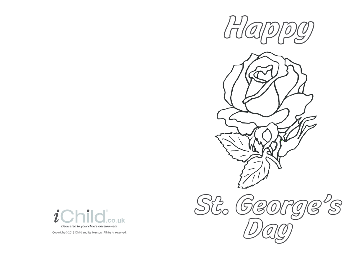 St. George's Day Card: Rose