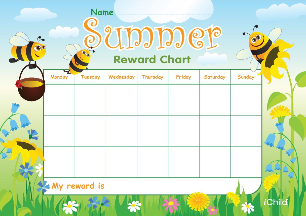 Summer Reward Chart
