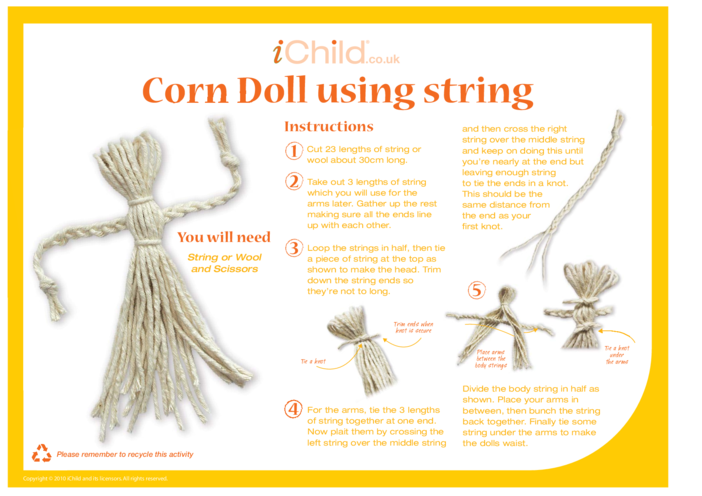 Thumbnail image for the Corn Dollies (how to make) activity.
