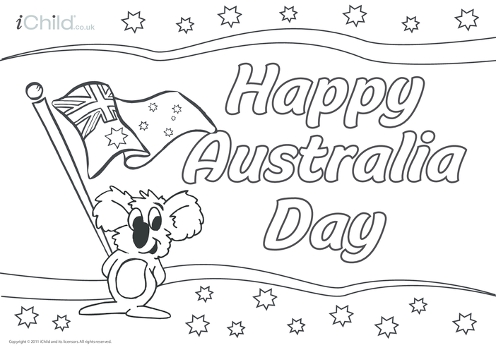 Thumbnail image for the Australia Day Poster activity.