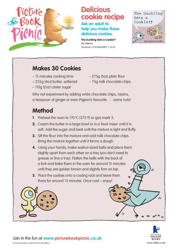 The Duckling Gets A Cookie: Cookie Recipe