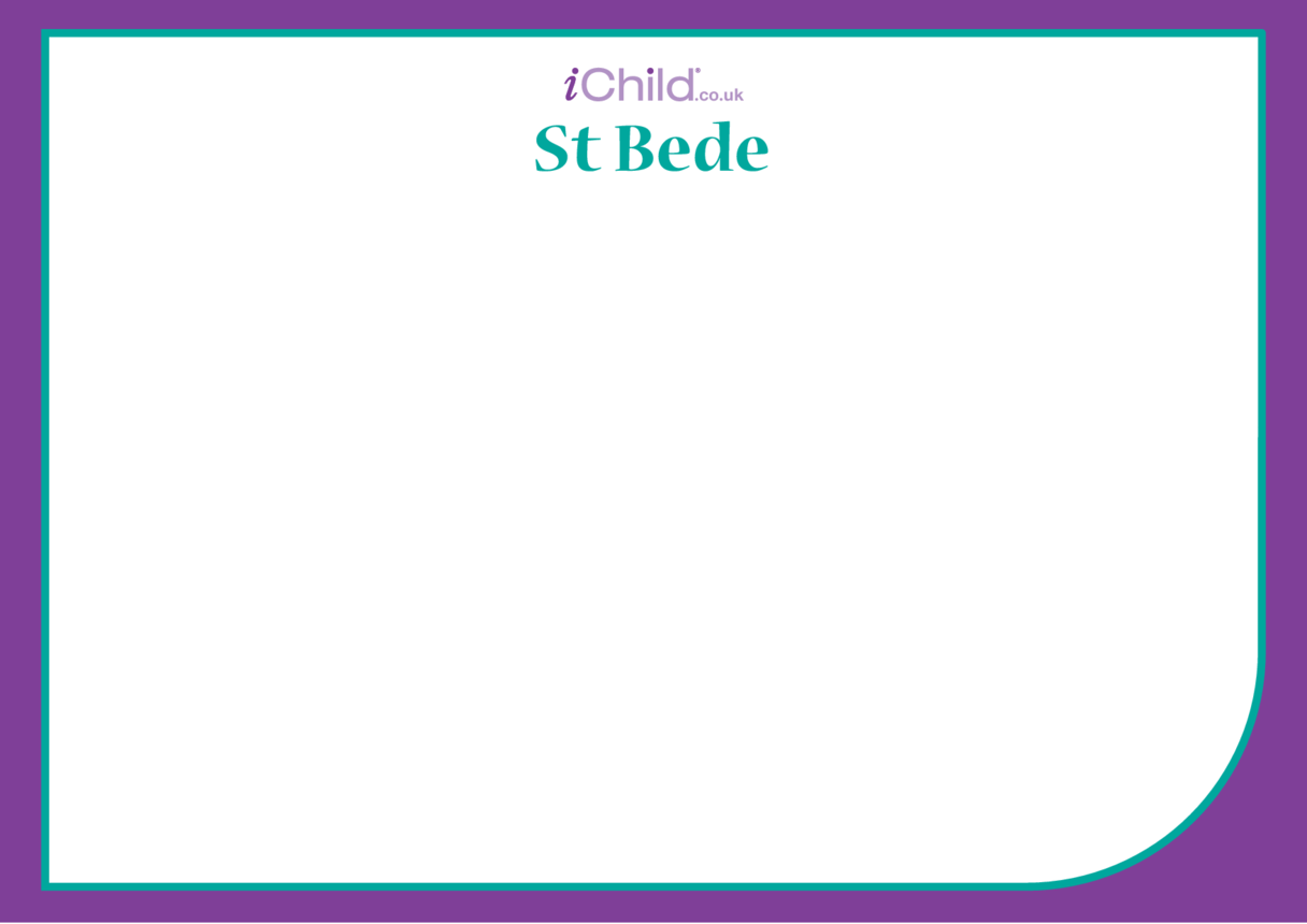 St. Bede Blank Drawing Template