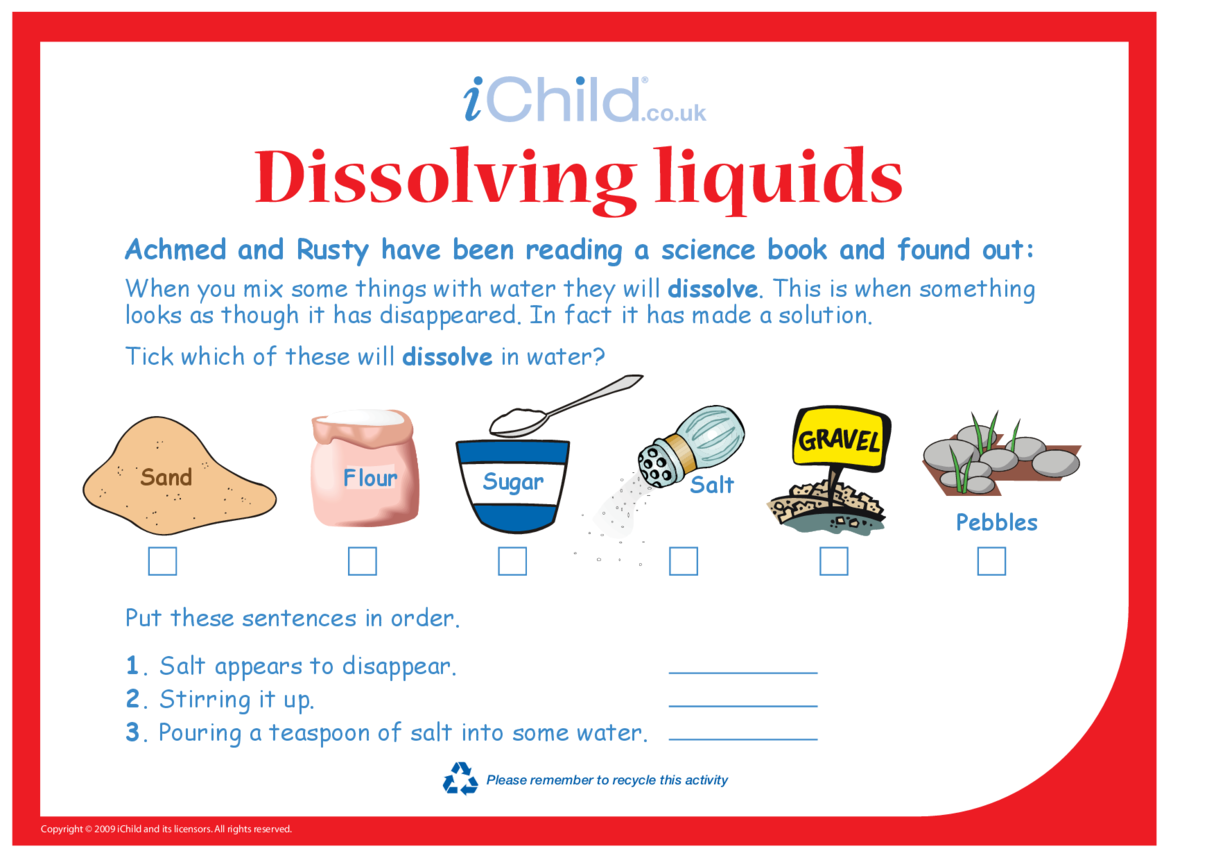 Dissolving Liquids