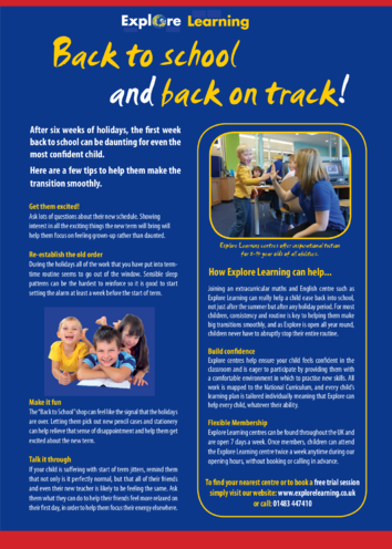 Thumbnail image for the Back to School Tips for Parents activity.