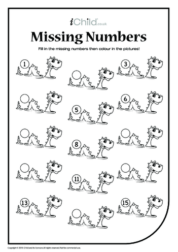 Thumbnail image for the Missing Numbers - Loch Ness Monster activity.