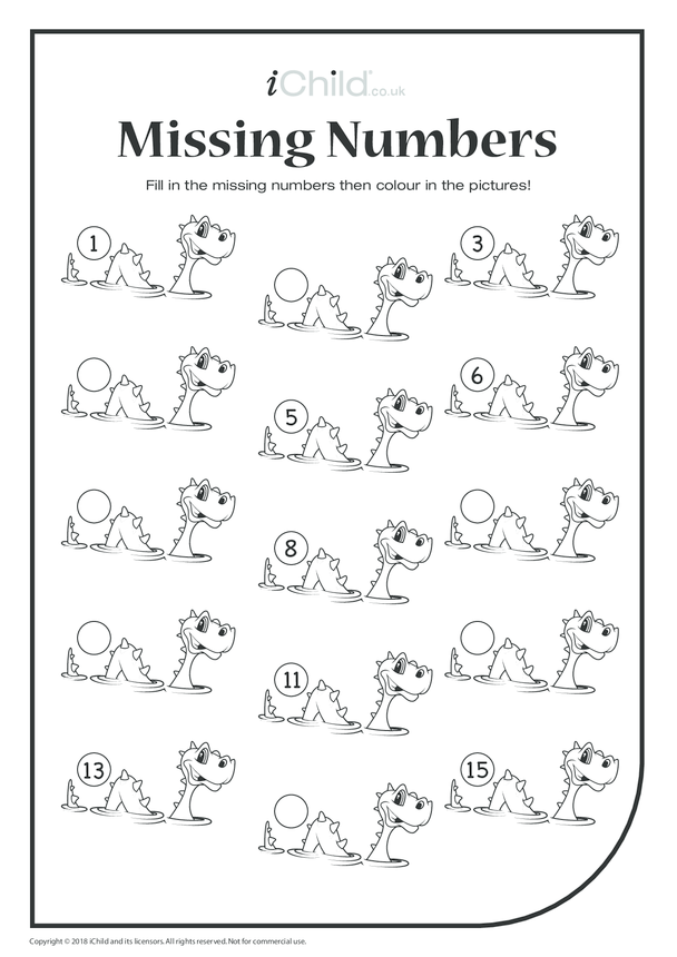 Missing Numbers - Loch Ness Monster