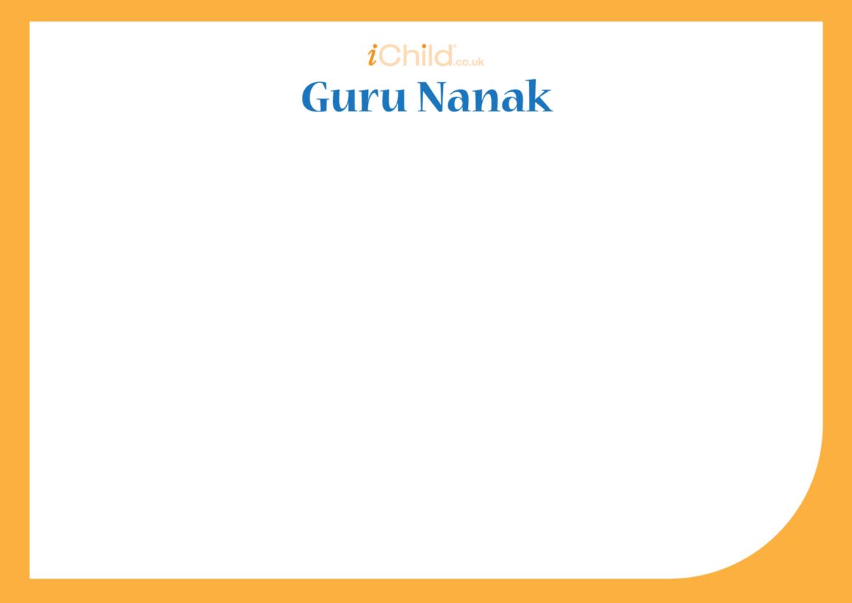 Guru Nanak Blank Drawing Template