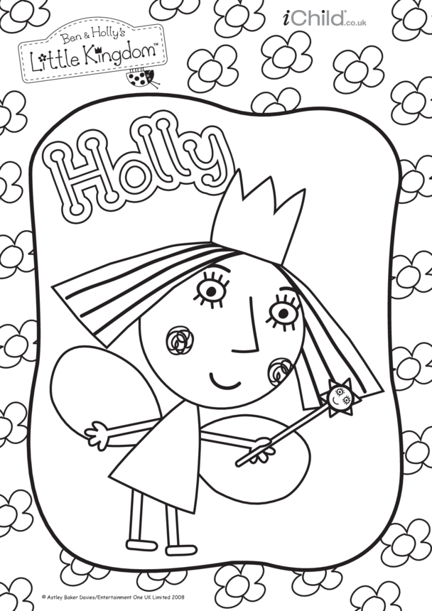 Holly Colouring in picture: Ben & Holly's Little Kingdom