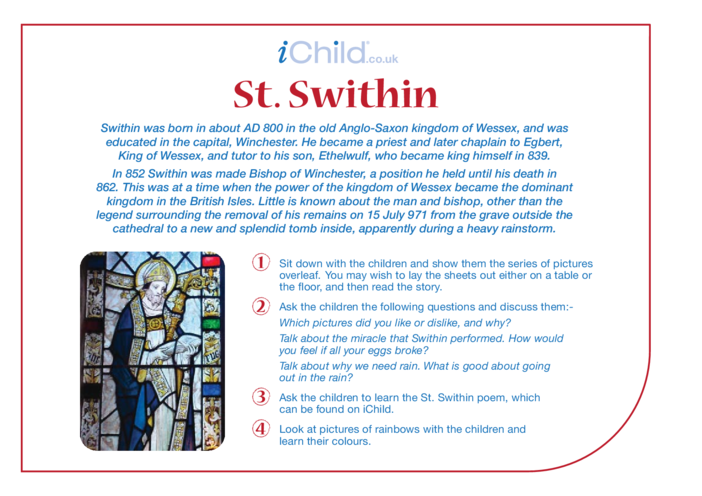 Thumbnail image for the St. Swithin Religious Festival Story activity.