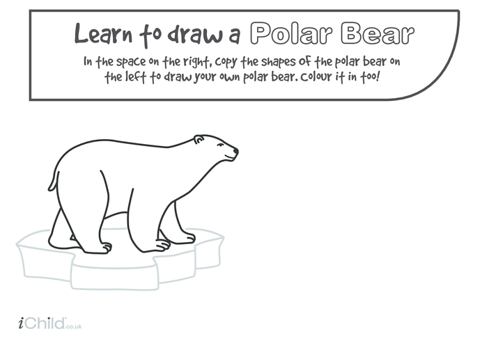 Thumbnail image for the Learn to Draw a Polar Bear activity.