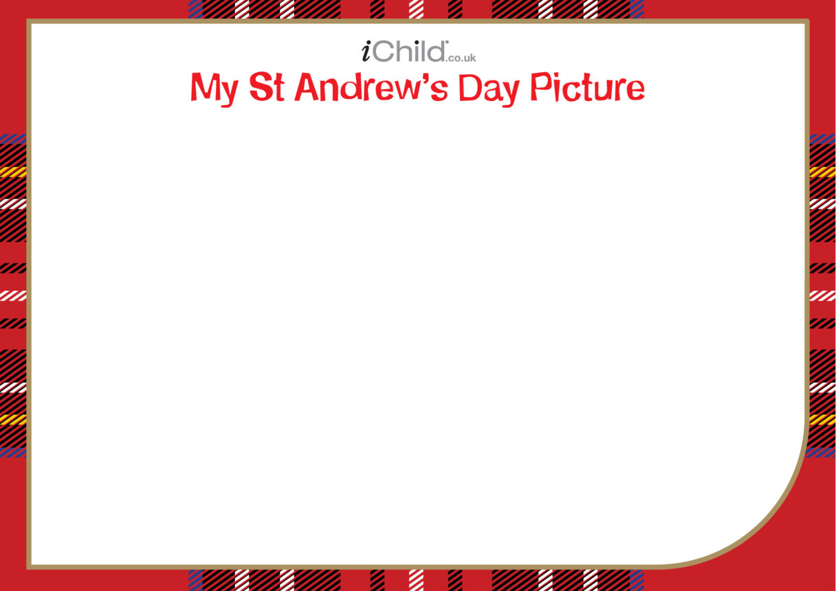 St. Andrew's Day Blank Drawing Template