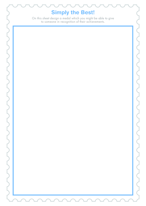 Secondary 2) I Did it My Way- Simply the Best Drawing Template