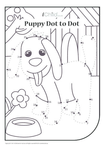 Thumbnail image for the Puppy Dot to Dot activity.