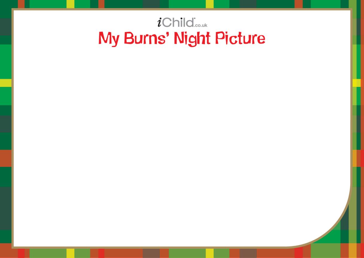Burns' Night Blank Drawing Template