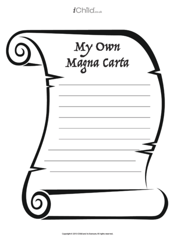 Thumbnail image for the My Own Magna Carta activity.