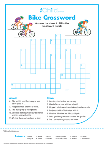 Thumbnail image for the Bike Crossword activity.