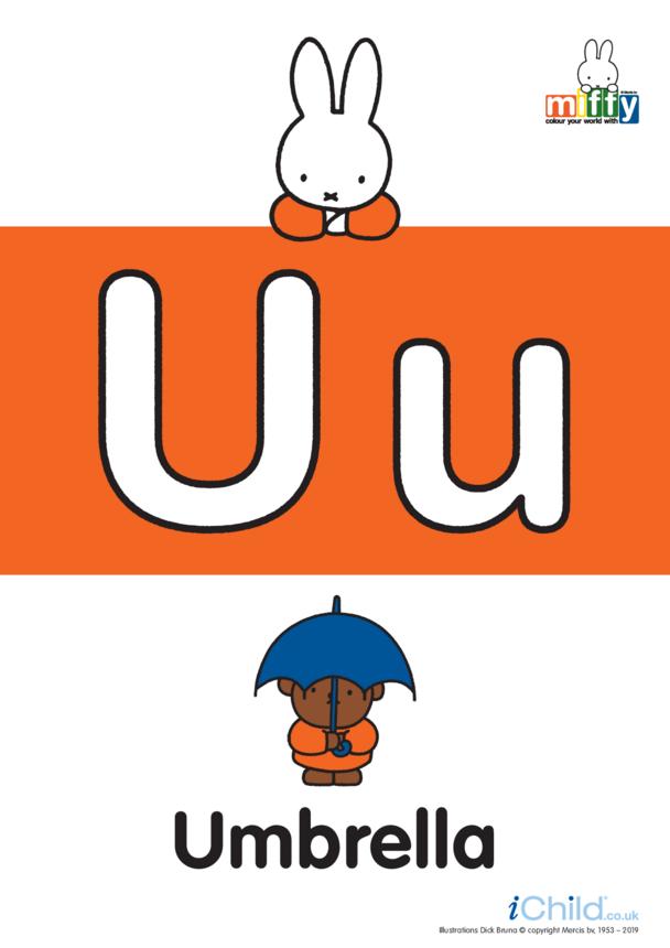 U: Miffy's Letter Uu