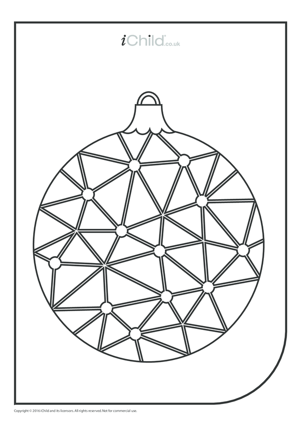 Christmas Bauble Colouring in Picture