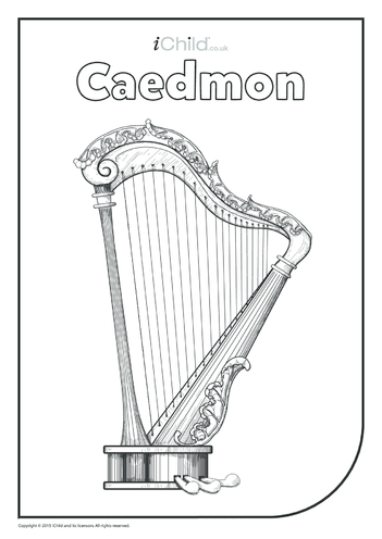 Thumbnail image for the Caedmon Colouring in Picture activity.