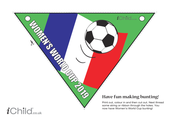 Thumbnail image for the Women's World Cup 2019 - Bunting activity.