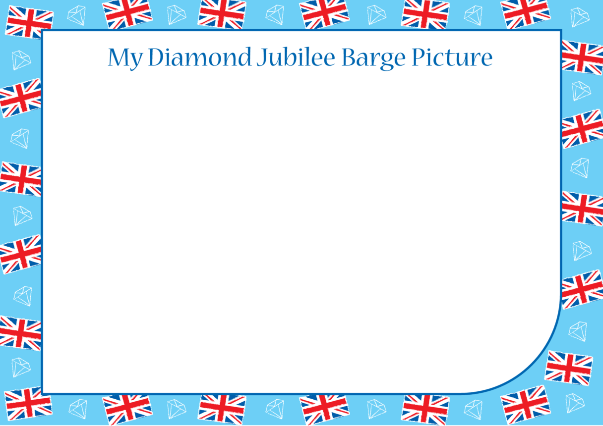 Jubilee Barge Blank Drawing Template