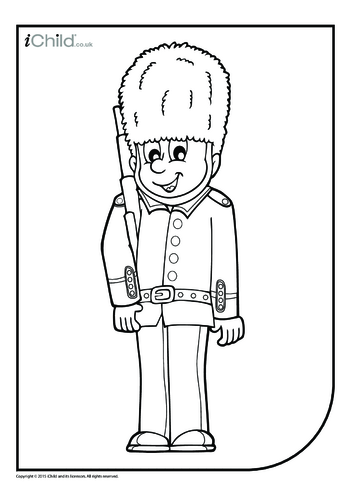 Thumbnail image for the Guardsman Colouring in Picture activity.