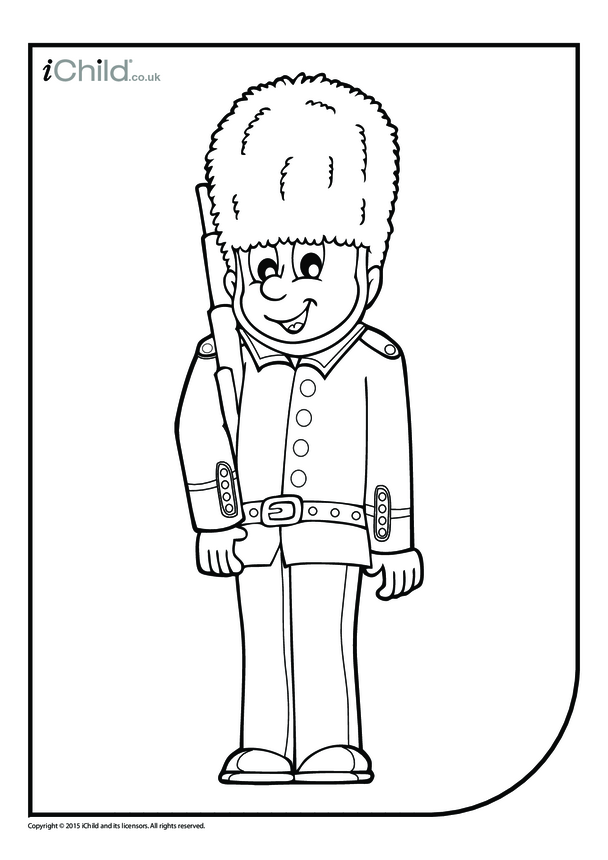 Guardsman Colouring in Picture