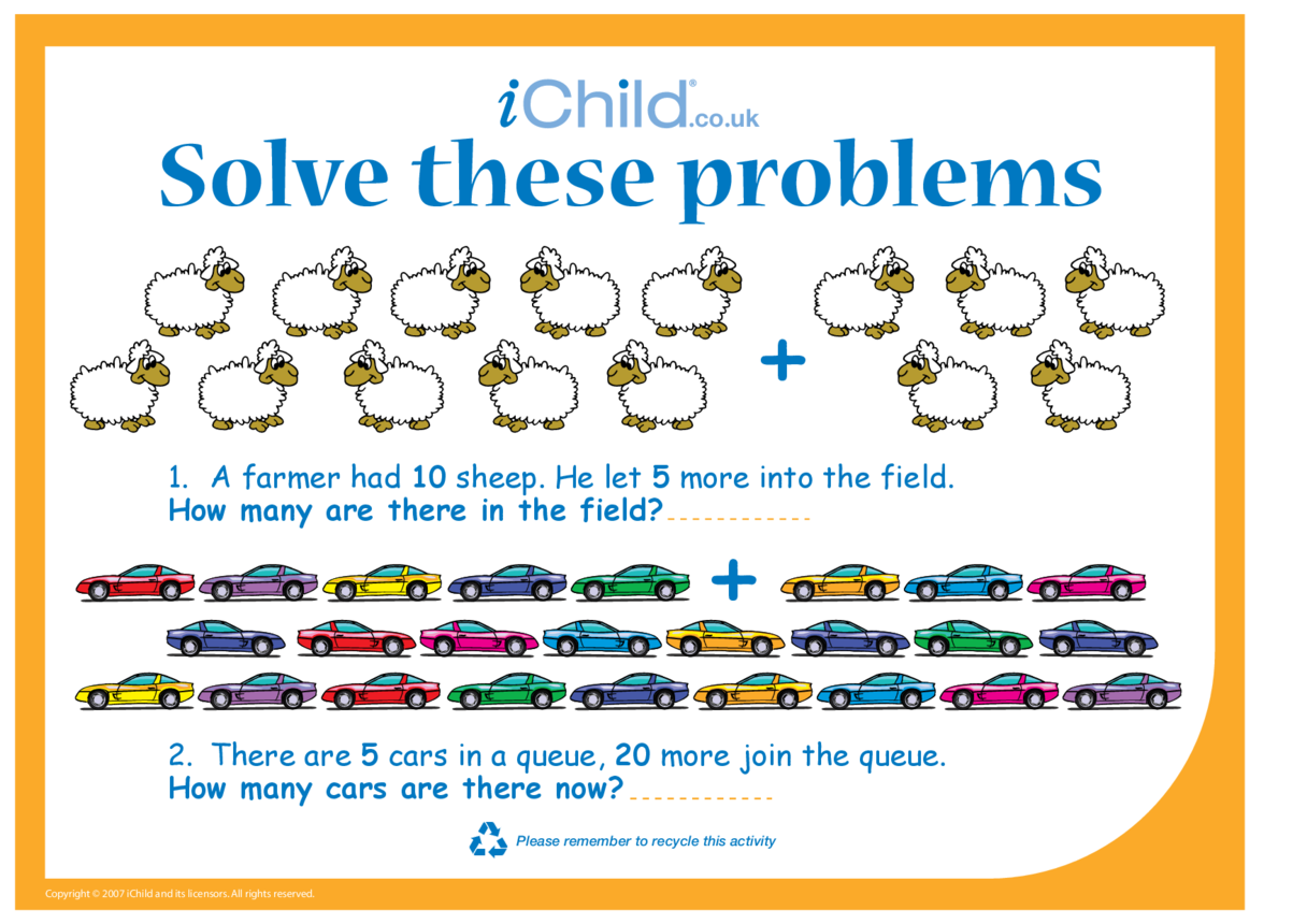 Solve these problems