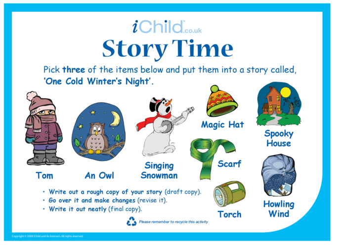 Thumbnail image for the Story Time - Winter's Night activity.