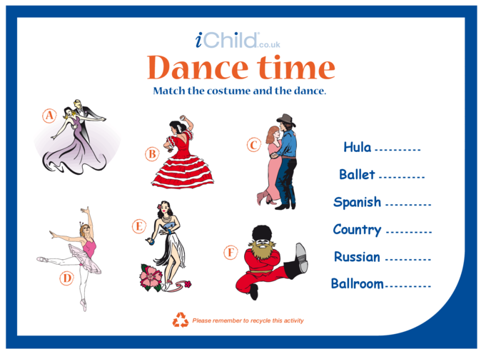 Thumbnail image for the Dance Time activity.