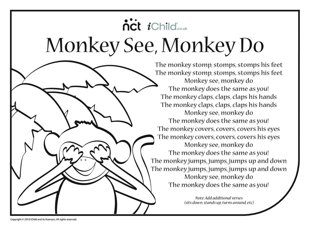 Cheeky Monkey Song Sheet 4