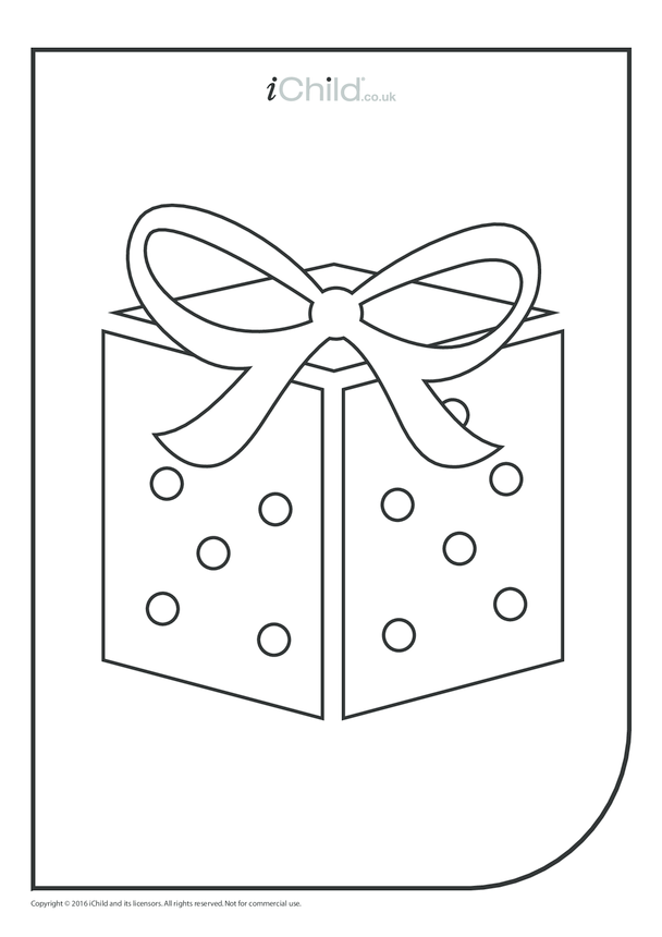 Present Colouring in Picture