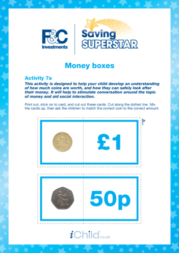 Thumbnail image for the Under 5 years (7a) Money Boxes activity.