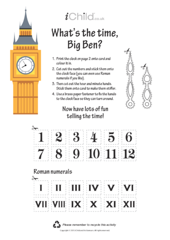 Thumbnail image for the What's the Time, Big Ben? activity.