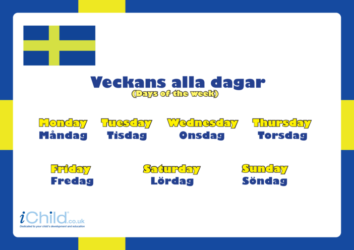 Thumbnail image for the Days of the Week in Swedish activity.