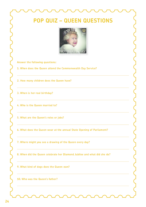 Royal Mail iStamp Club -  Queen Elizabeth Pop Quiz
