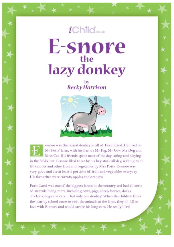 E-snore the Lazy Donkey