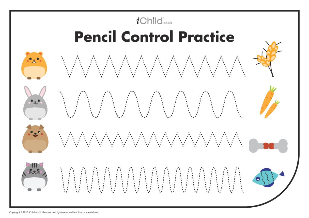 Pencil Control Practice: Wave Patterns