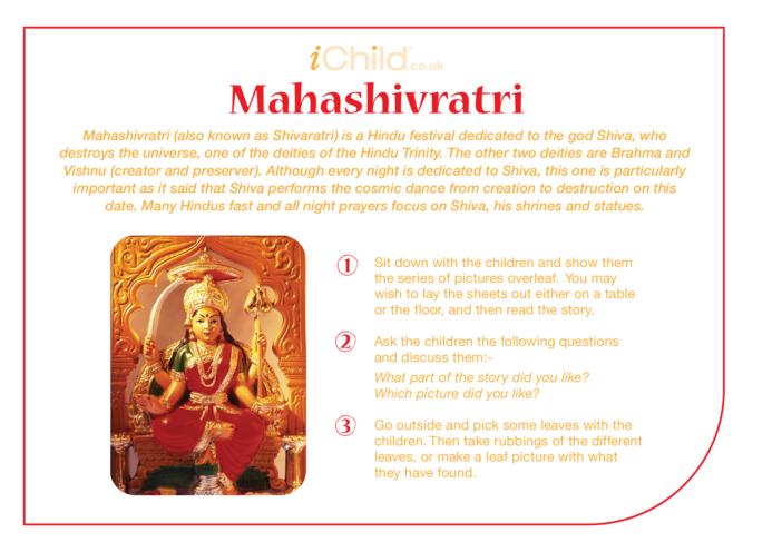 Thumbnail image for the Maha Shivratri Religious Festival Story activity.